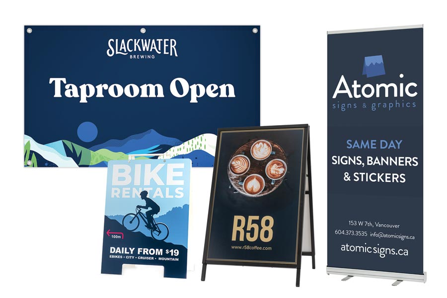 Sample of Atomic Same Day Sign Products